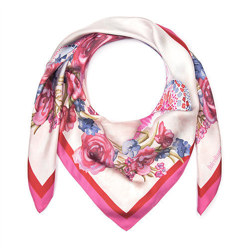 Dolce Roopa-Luxury Silk Scarf-Lanterns-Silkarmour-2