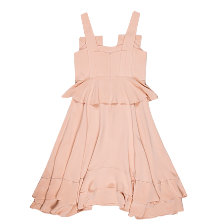 Viktoria Chan- Amy Silk Flounce Dress- Silkarmour-3