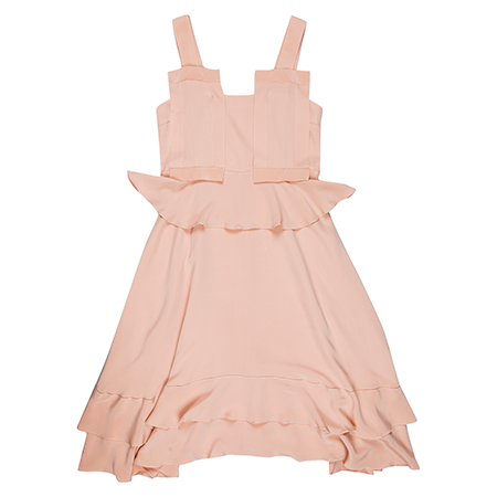 Viktoria Chan- Amy Silk Flounce Dress- Silkarmour-1