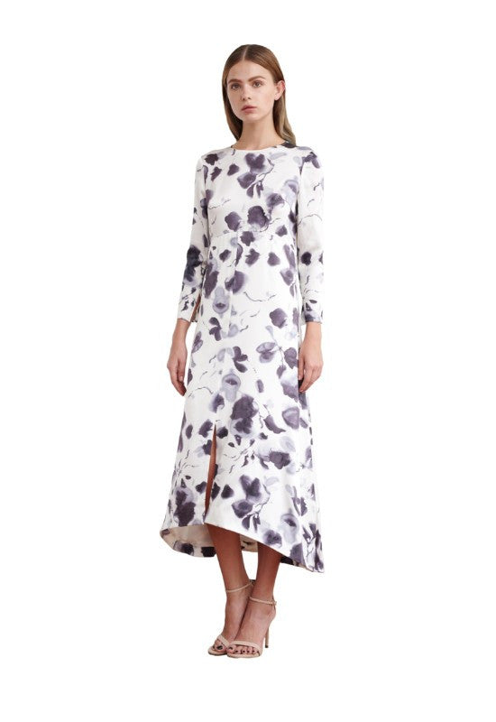 Viktoria Chan- Bloom Long Silk Dress- Silkarmour-4