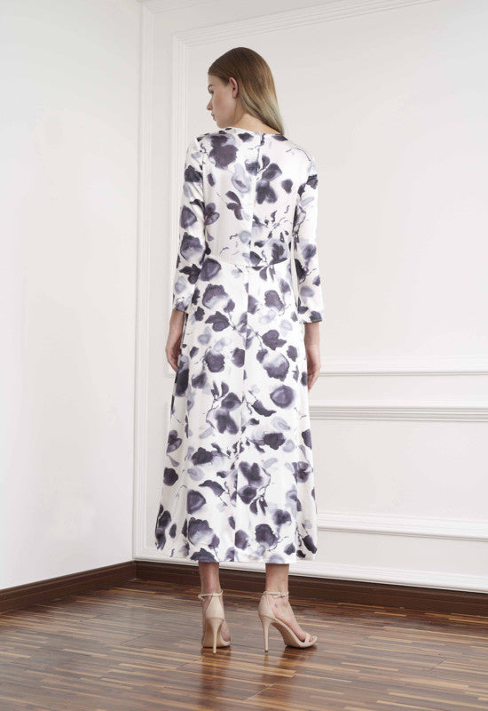 Viktoria Chan- Bloom Long Silk Dress- Silkarmour-2
