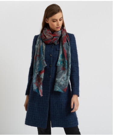 ALLEGRA LONDON - Karauli Blues Cashmere Scarf- SILKARMOUR-2