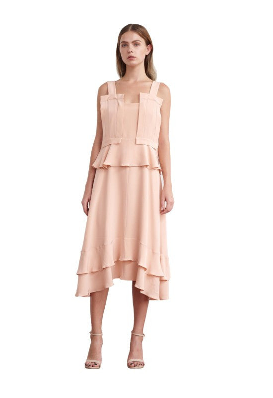 Viktoria Chan- Amy Silk Flounce Dress- Silkarmour-2
