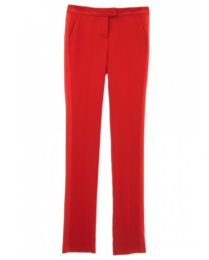 Stefanie Renoma-TUXEDO PANTS IN RED CREPE-Silkarmour-1