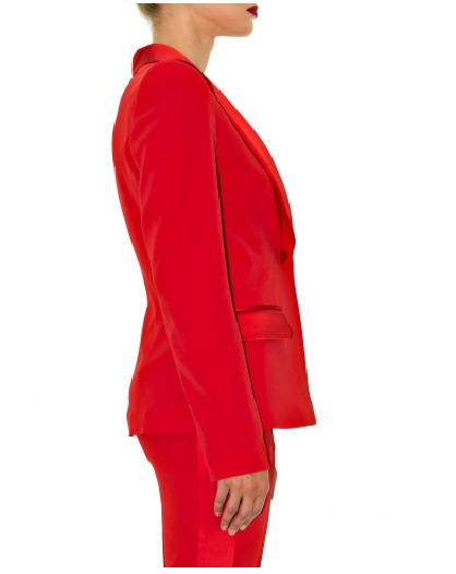 Stefanie Renoma-TUXEDO JACKET IN RED CREPE-Silkarmour-4