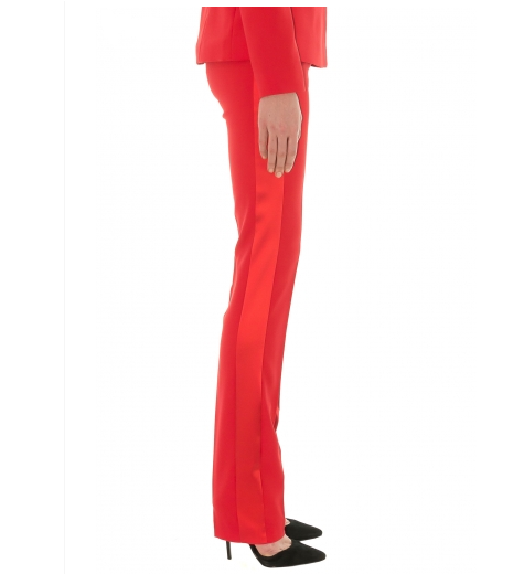 Stefanie Renoma-TUXEDO PANTS IN RED CREPE-Silkarmour-6