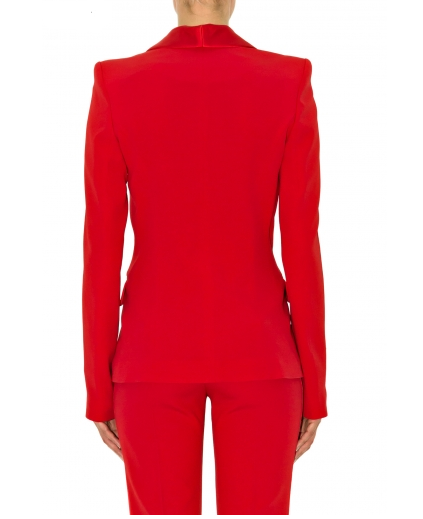 Stefanie Renoma-TUXEDO JACKET IN RED CREPE-Silkarmour-5