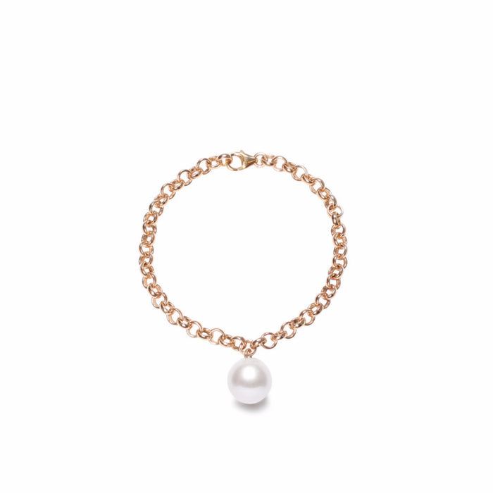 ORA PEARLS - DESIGNER JELLY LONDON - WHITE PEARL CHAIN BRACELET - SILKARMOUR - 1