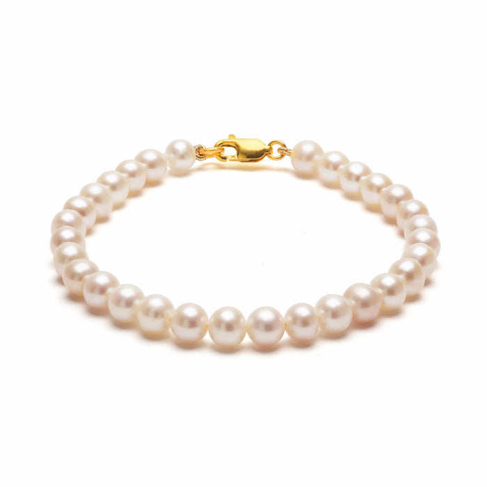 ORA PEARLS _ DESIGNER JEWELLERY LONDON - WHITE STRUNG BRACELET - SILKARMOUR - 1