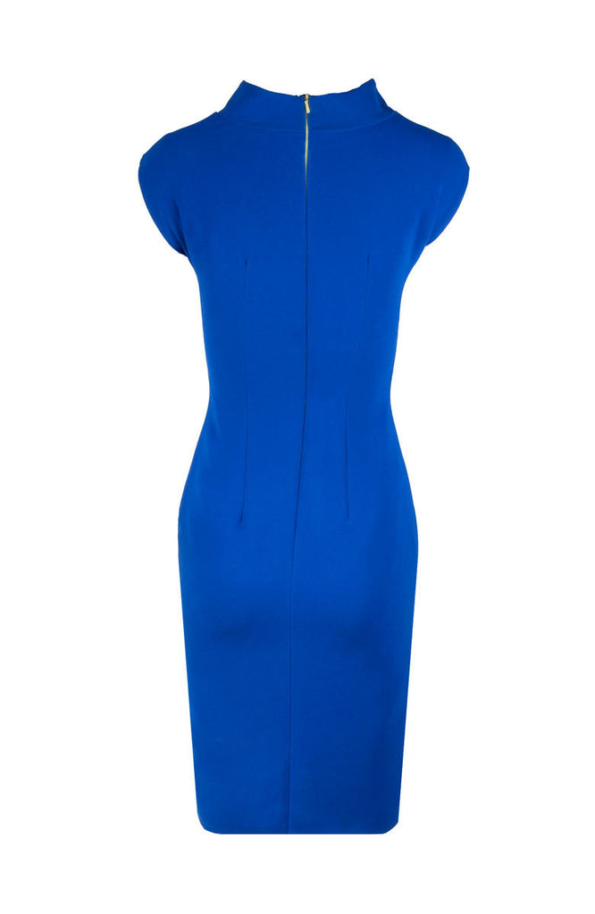 EMILE VIDAL CARR - BLUE BUSINESS EMILIA DRESS - SILKARMOUR - WOOL