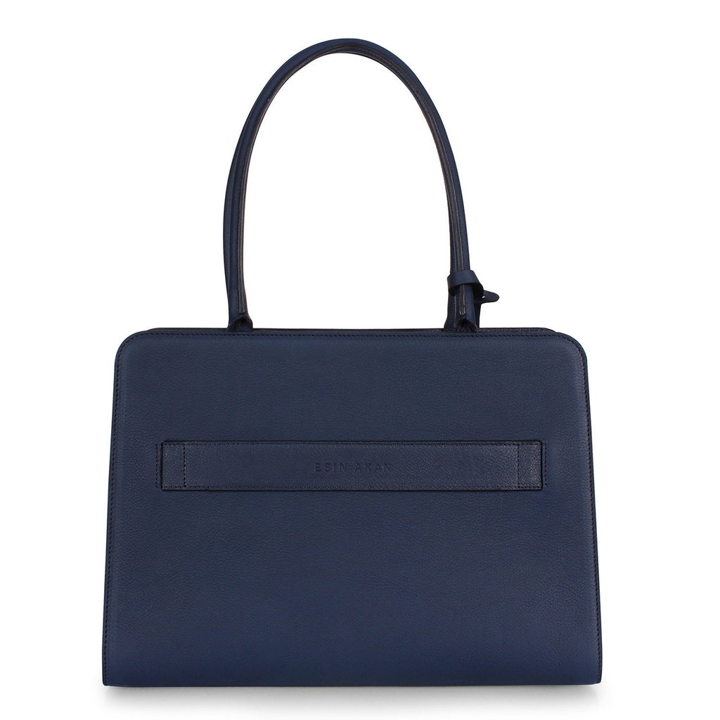 Esin Akan-CITY TOTE Navy-Silkarmour-3