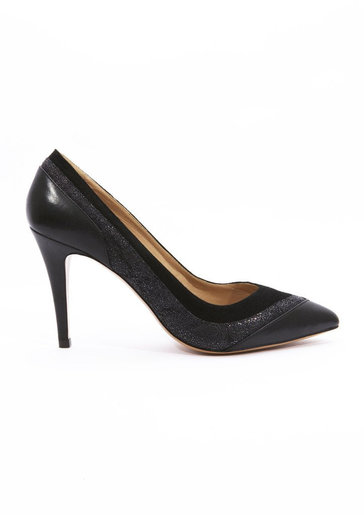 House of Spring- Louise Black Pumps- Silkarmour-1
