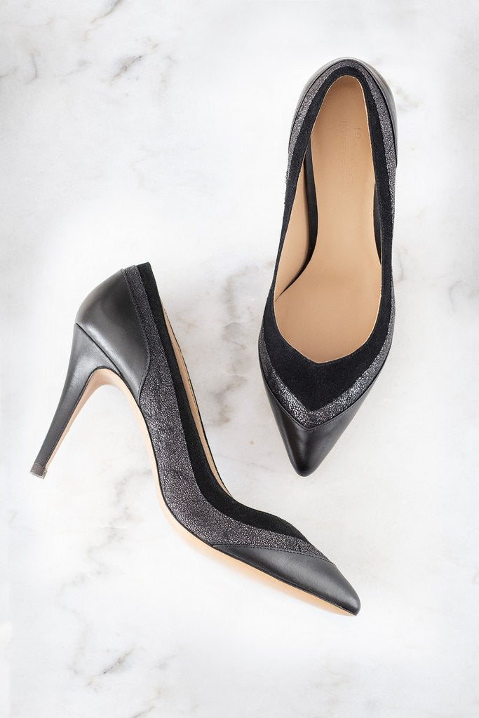 House of Spring- Louise Black Pumps- Silkarmour-3