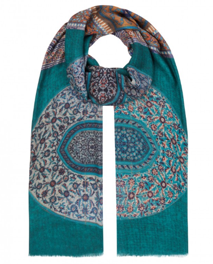 ALLEGRA LONDON-MOGUL DOORS SCARF-SILKARMOUR