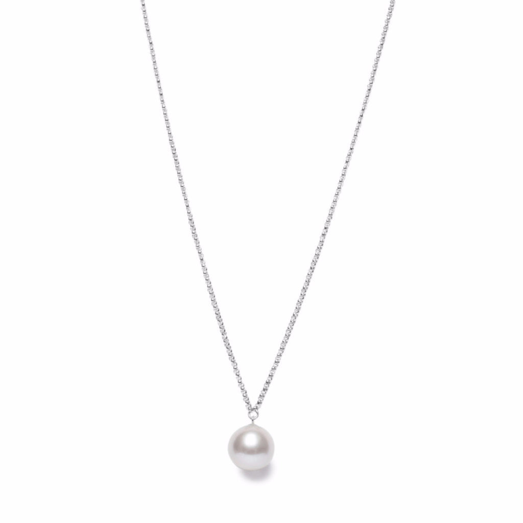 ORA PEARLS LONDON - GREY PEARL PENDANT - SILKARMOUR - 2
