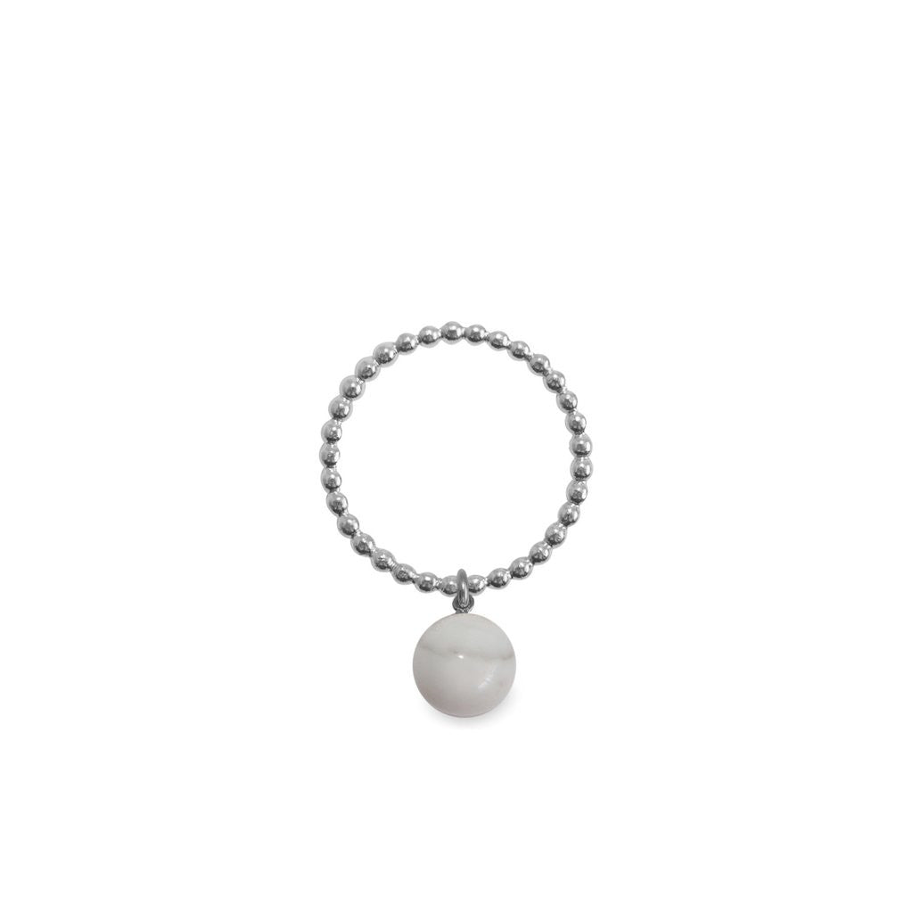 ORA PEARLS - ORB RING - MARBLE - SILKARMOUR LONDON
