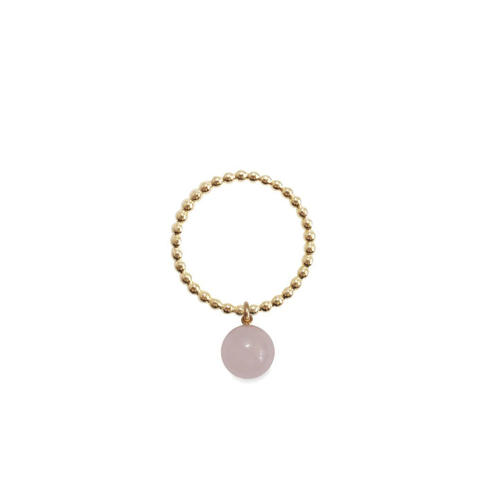 ORA PEARLS - ORB RING - PINK JADE - SILKARMOUR LONDON