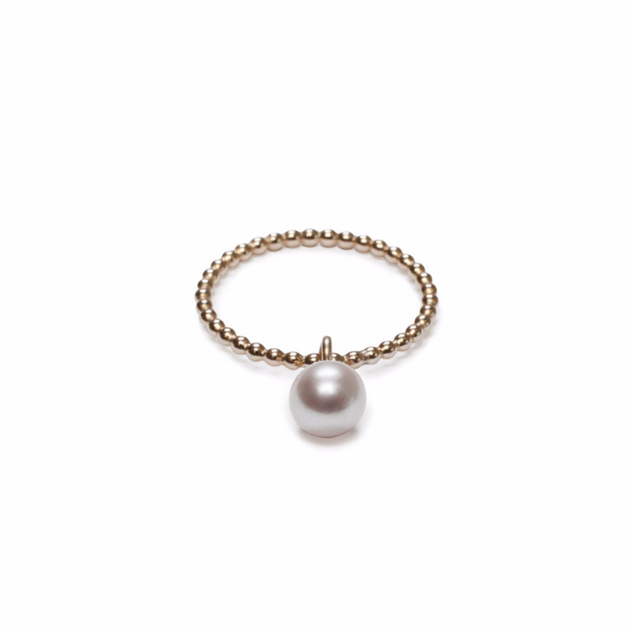 ORA Pearls London - Luxury Jewellery - BEADED PEARL RING - SILKARMOUR - 1