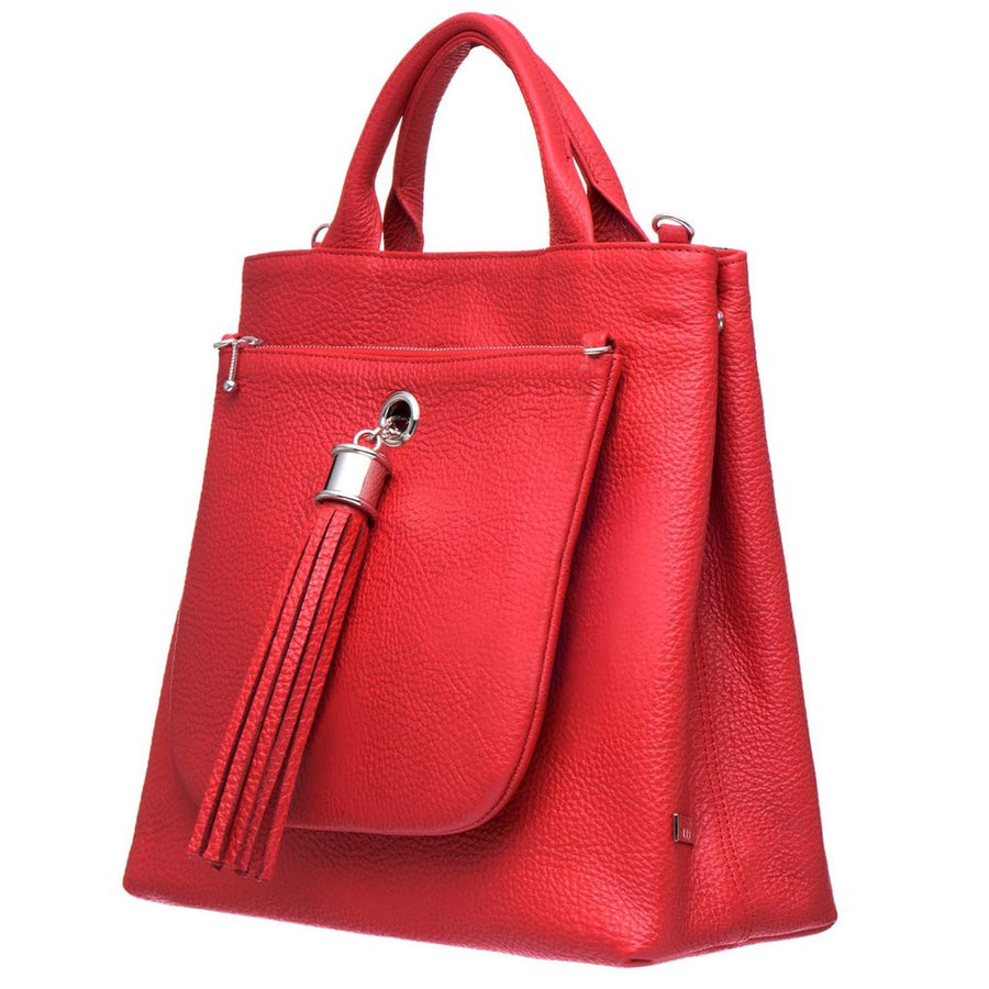 VVA-DAHLIA RED LEATHER TOTE HANDBAG-SILKARMOUR-1
