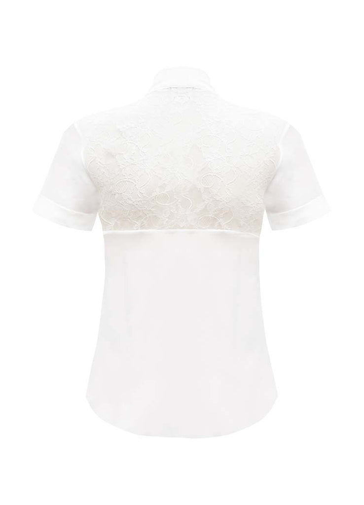 SOPHIE CAMERON DAVIES - LUXURY BUSINESS BLOUSES - WHITE PUSSY BOW BLOUSE  - SILKARMOUR - 2
