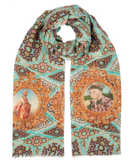 ALLEGRA LONDON-MAHRAJA BLUES SCARF-SILKARMOUR