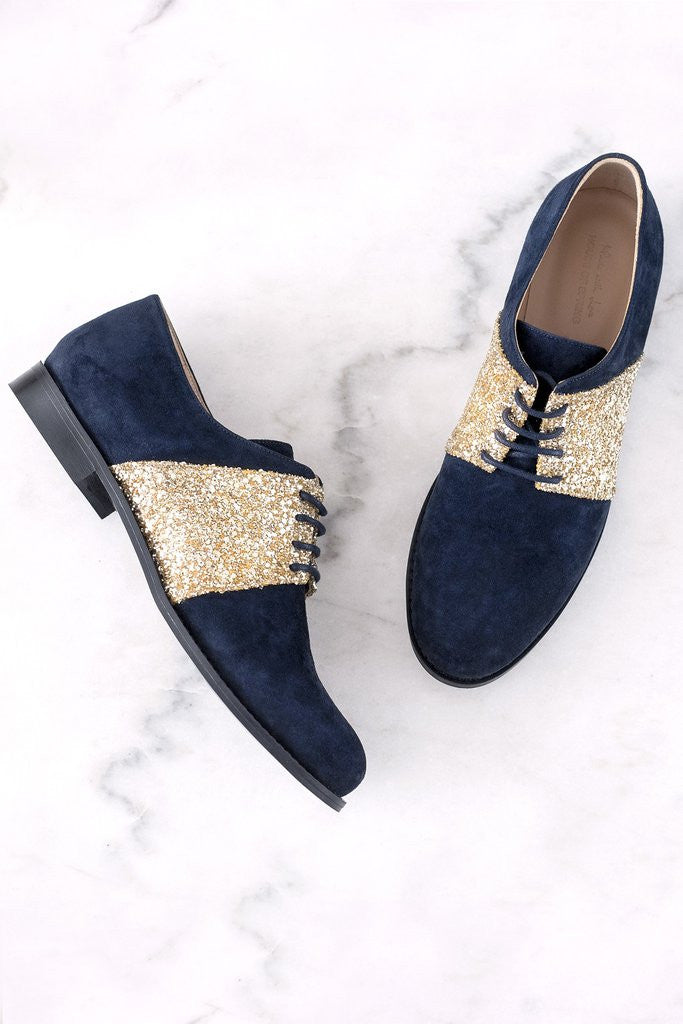 House of Spring-Sloane Blue Brogues- Silkarmour-1