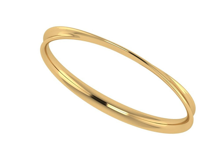 My-Wish Bangle In Gold- Silkarmour-1