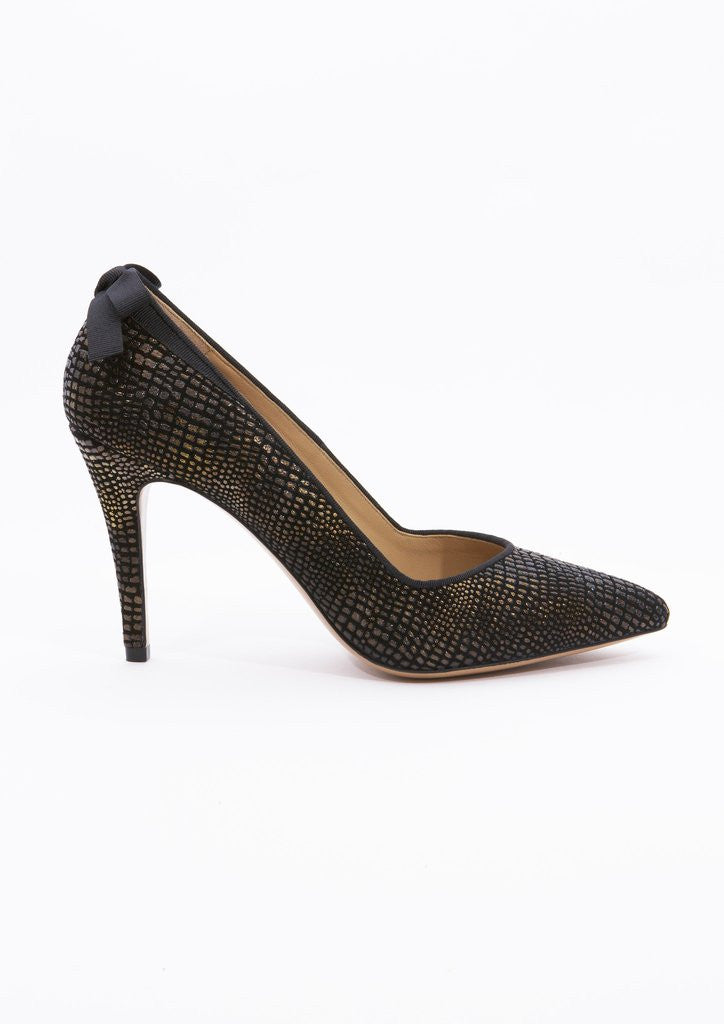 House of Spring-Vendôme Gold Pumps- Silkarmour-5