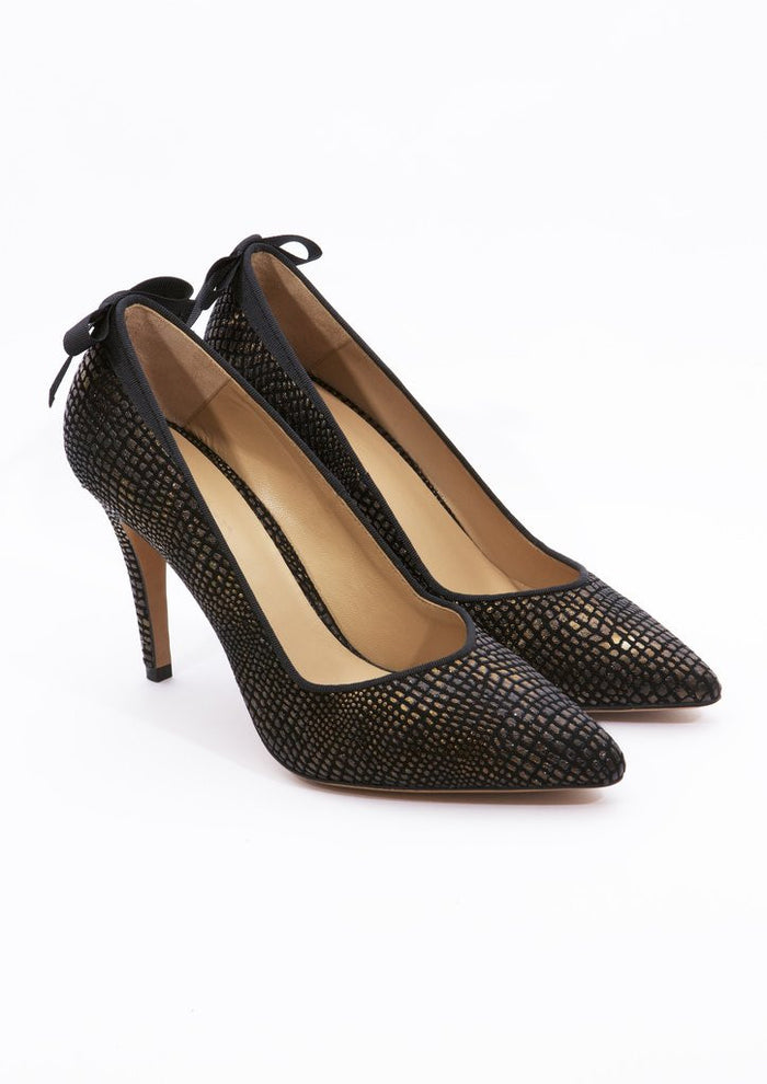 House of Spring-Vendôme Gold Pumps- Silkarmour-1