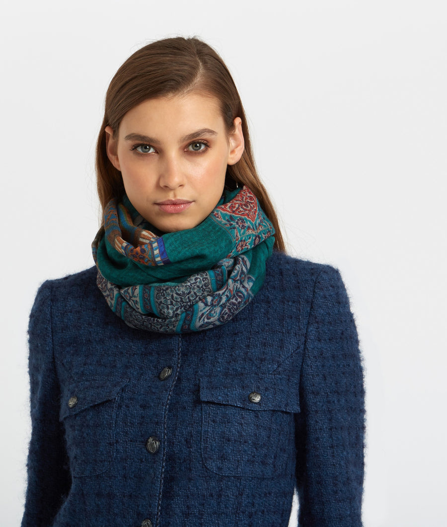 Allegra London-Mogul Doors Cashmere Scarf- Silkarmour