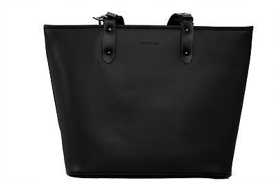 Victoria Lam- Duchess Leather Tote Bag Black- Silkarmour