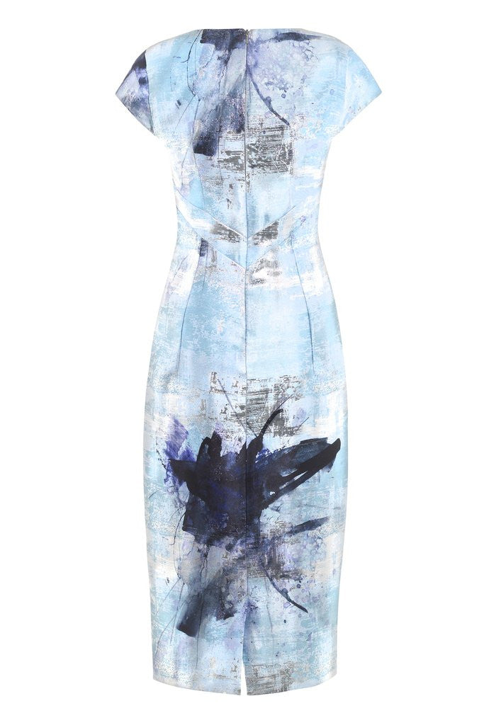 Hemyca London- Dita Zinco Jacquard Dress- Silkarmour-1