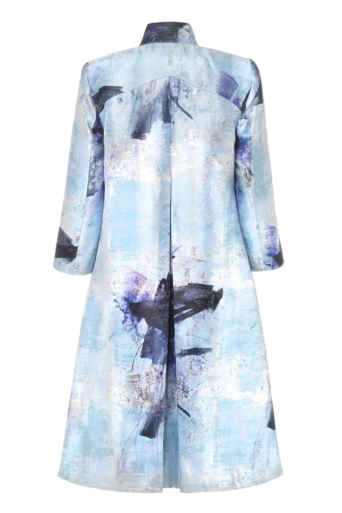 Hemyca London-Mary Lurex Jacquard Coat-Silkarmour-3