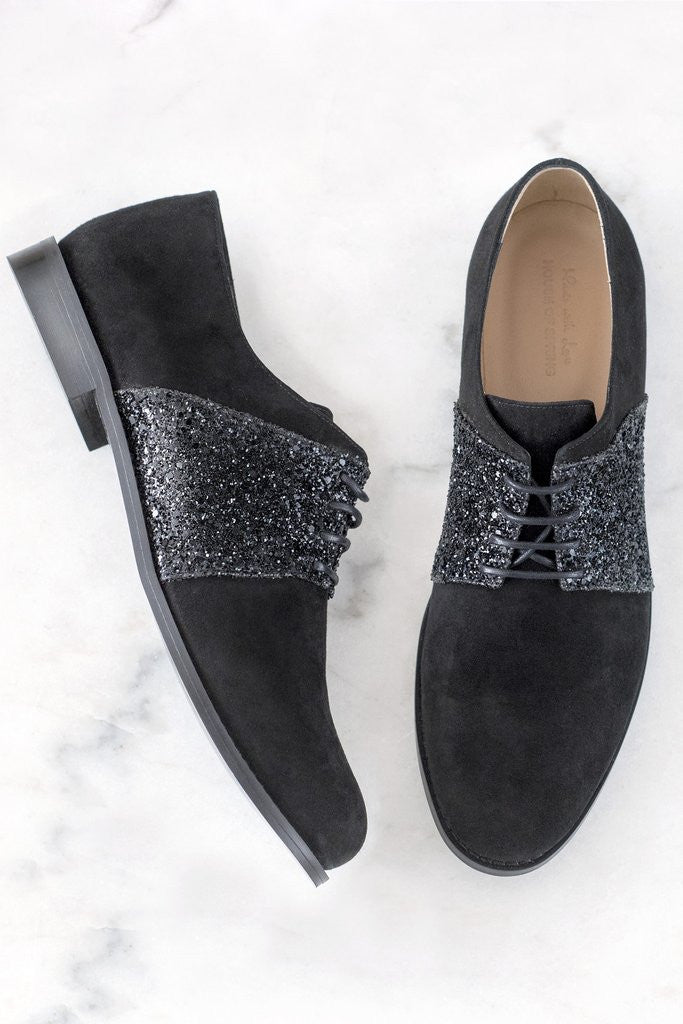 House of Spring- Sloane Black Brogues-Silkarmour-1