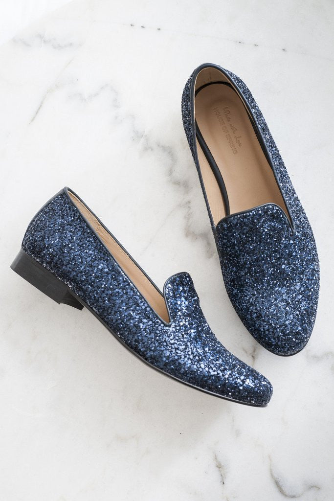 House of Spring-Paname Glitter Loafers-Silkarmour-1