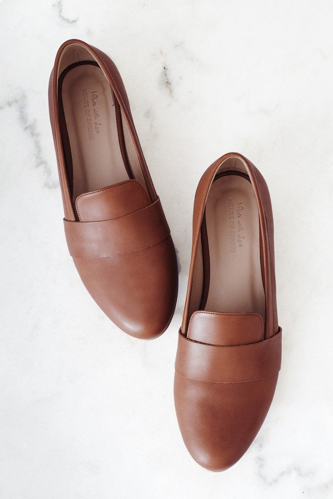 House of Spring-Portobello Camel Loafers- Silkarmour-1