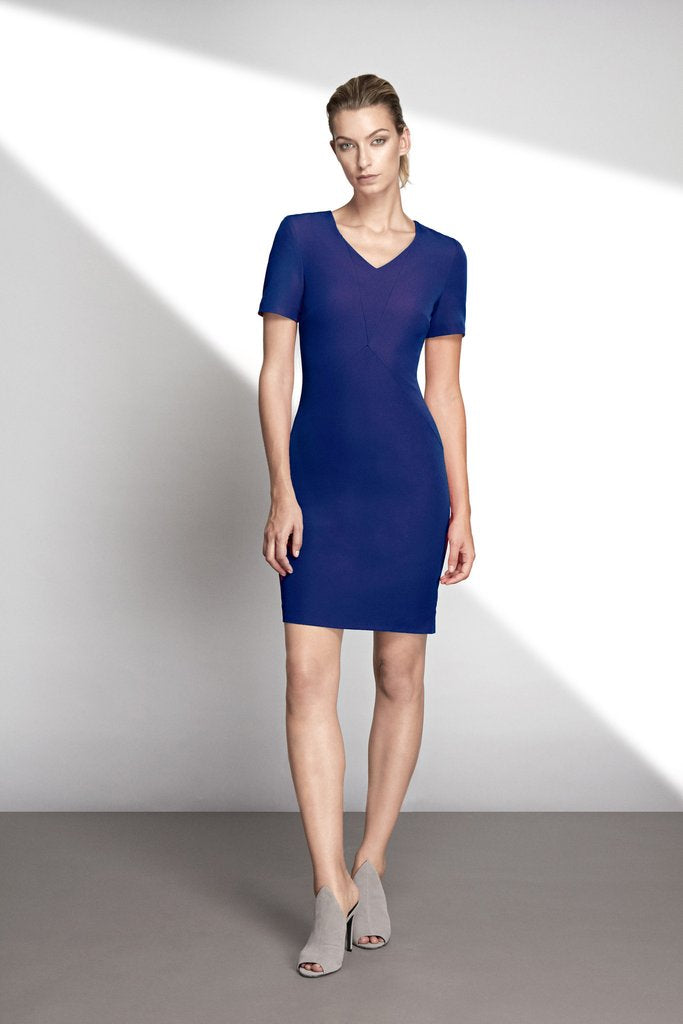 HEMYCA LONDON-Nora Stretch Cady Dress-SILKARMOUR-2