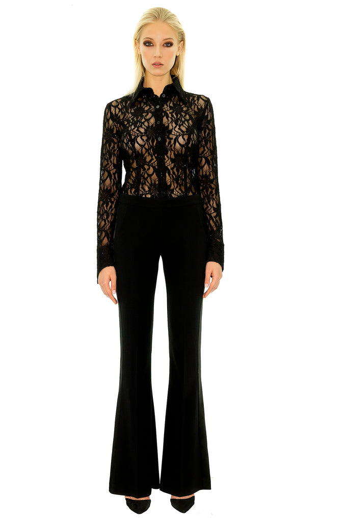 Stefanie Renoma-BLACK SMOKING PANT, LISA SPARKLE BLACK-Silkarmour-3