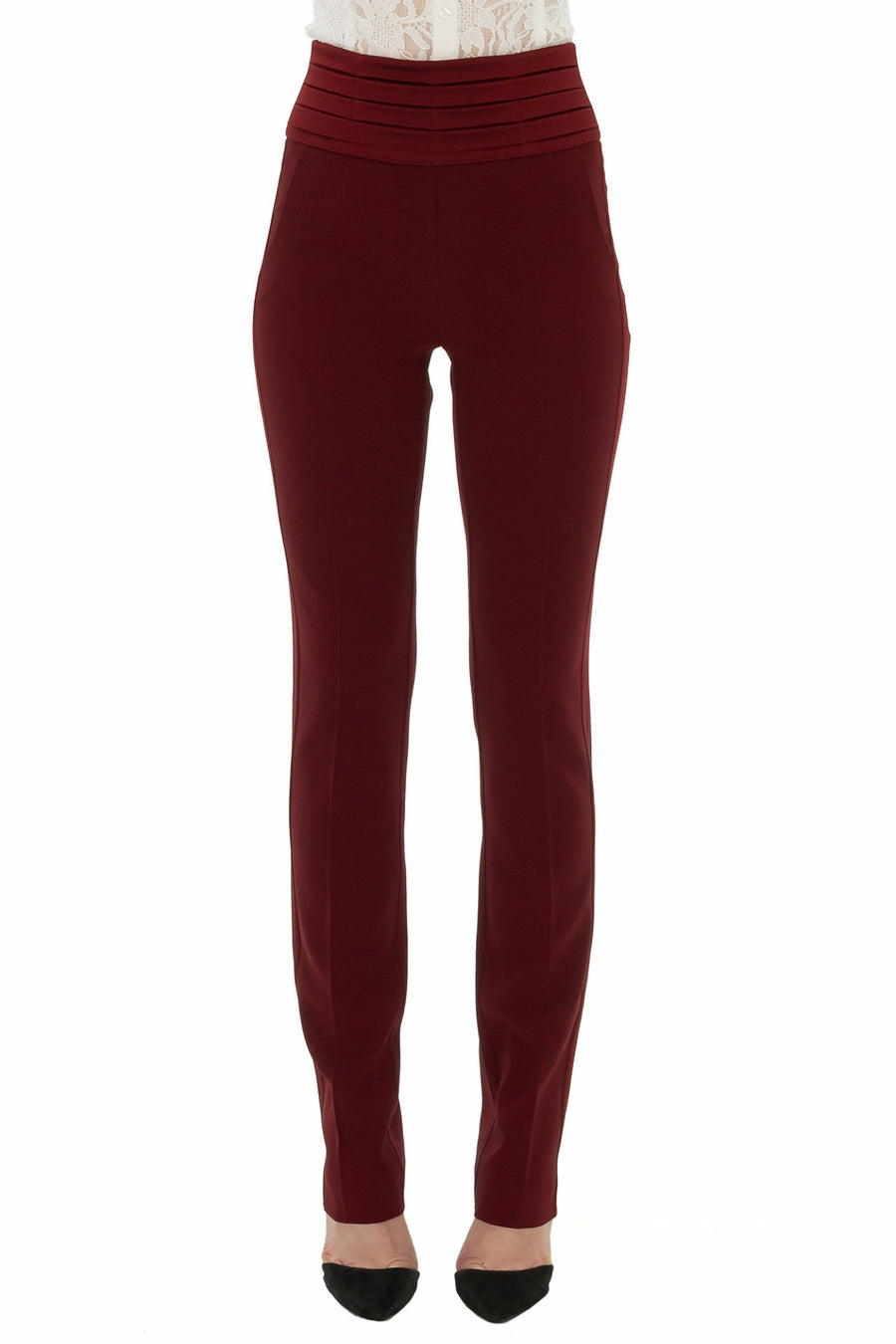 STEFANIE-RENOMA-HIGH-WAISTED-BURGUNDY-TUXEDO-TROUSERS-SILKARMOUR
