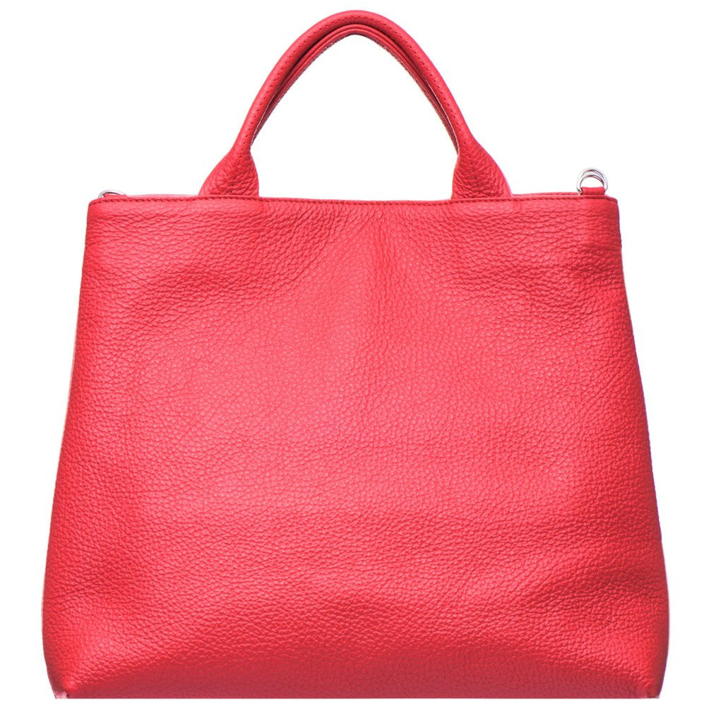 VVA-DAHLIA RED LEATHER TOTE HANDBAG-SILKARMOUR-4