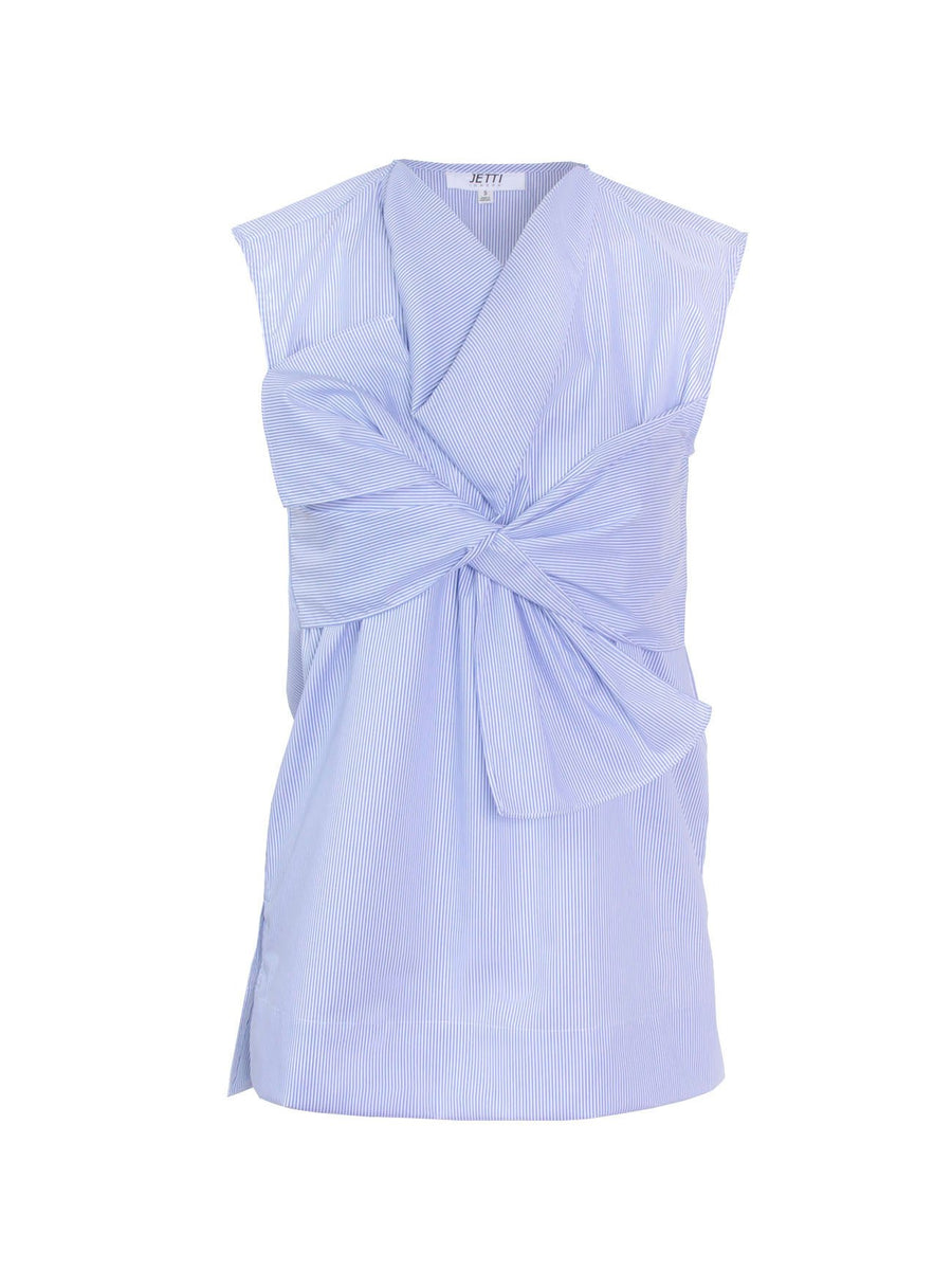 Jetti London- Bow Top-Blue-Silkarmour-1