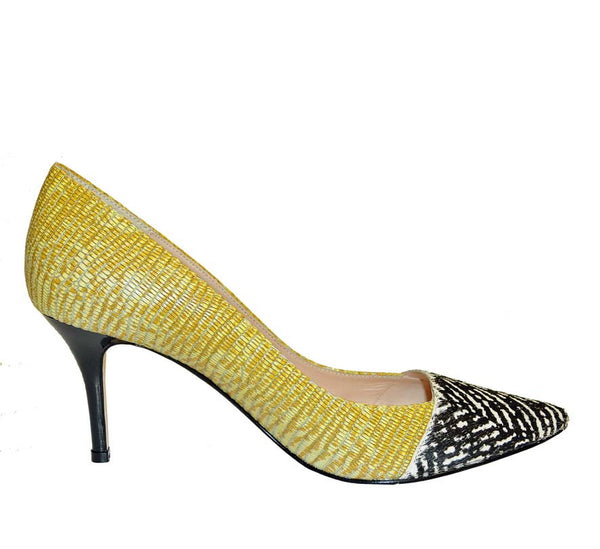 Lucy Choi-SOLANGE YELLOW LIZARD PRINT-Silkarmour-1