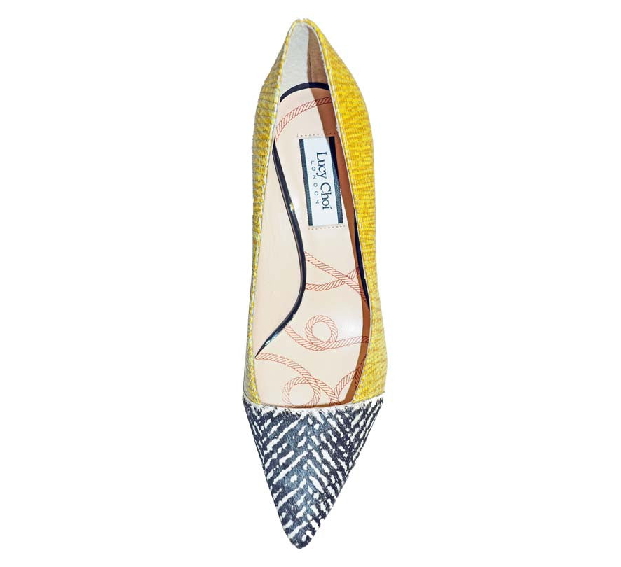Lucy Choi-SOLANGE YELLOW LIZARD PRINT-Silkarmour-3