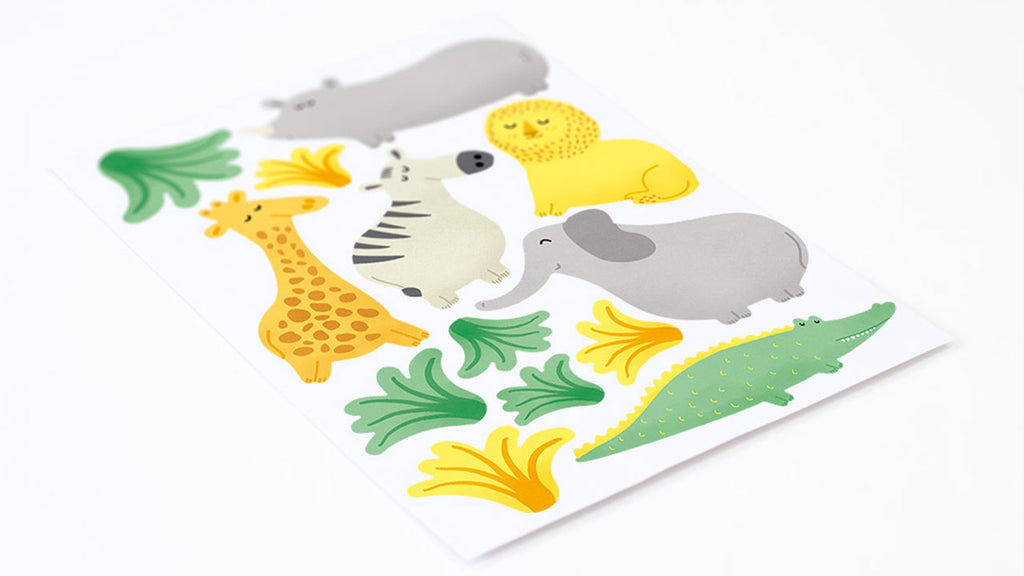 New Cute Wall Stickers For Kids Rooms And Nurseries Made Of Sundays