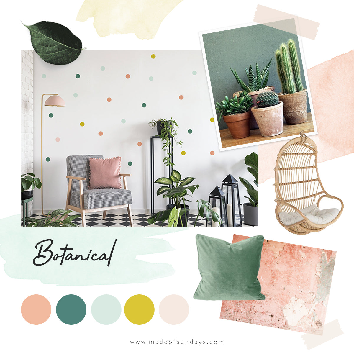 Botanical Colour Palette by Made of Sundays