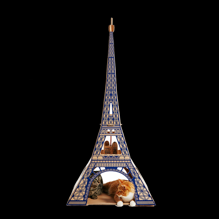Eiffel Tower Cat house
