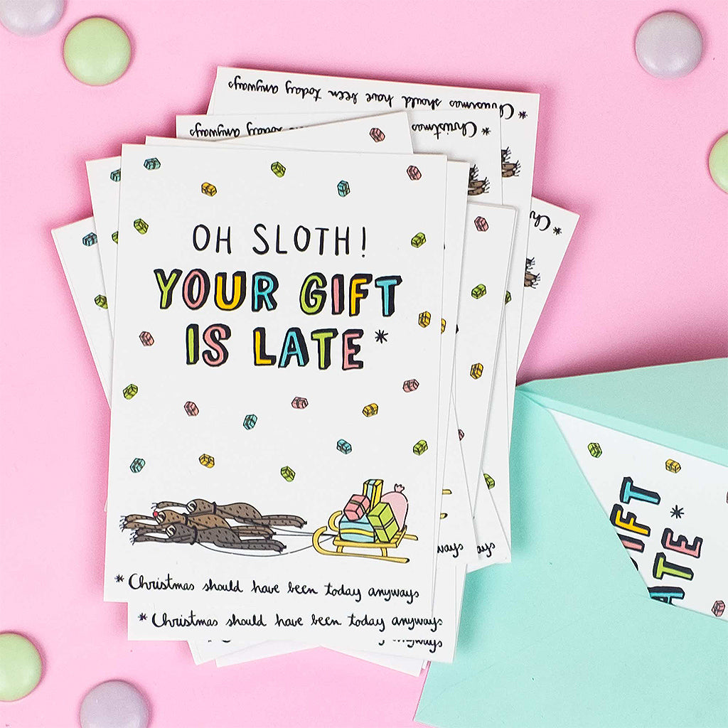 Oh Sloth! Your Gift is Late card