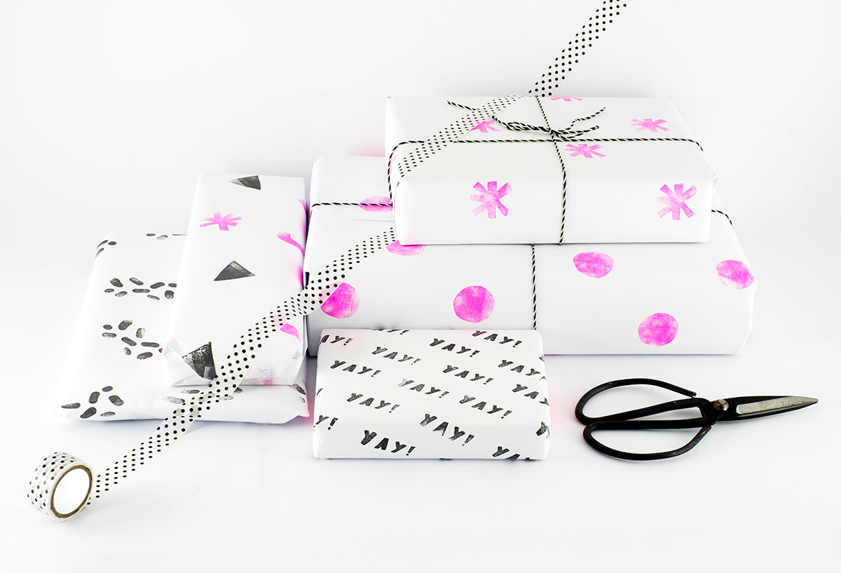 DIY Modern Gift Wrapping