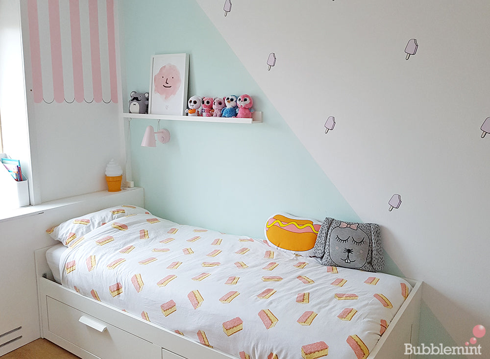 Lonneke Bubblemint ice cream room make over