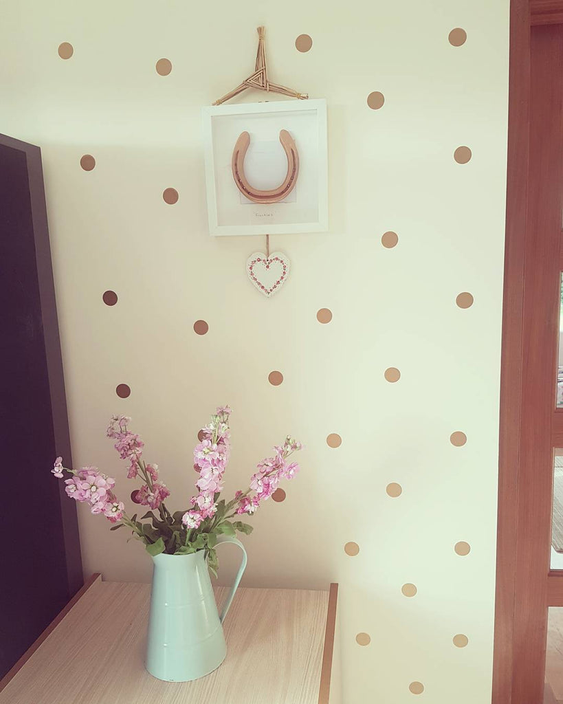 Polka dot pattern wall decals